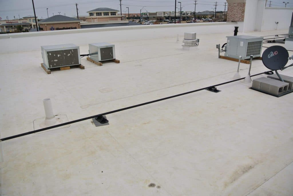 Commercial White TPO Flat Roof in Frisco, Texas